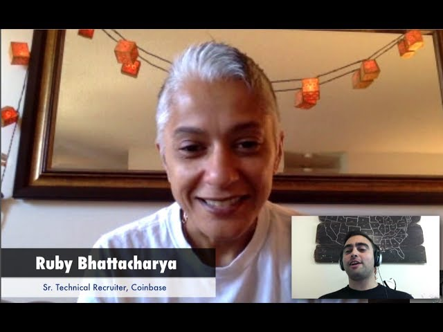 Ruby Bhattacharya, Senior Technical Recruiter @ Coinbase