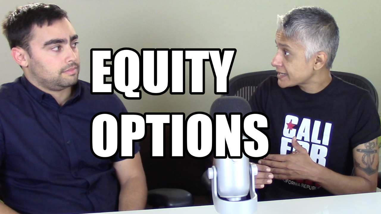 Ruby Bhattacharya, discussing startup equity options compensation